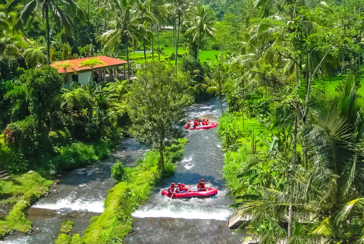 Visitors of a more adventurous bent could try whitewater rafting in Bali.