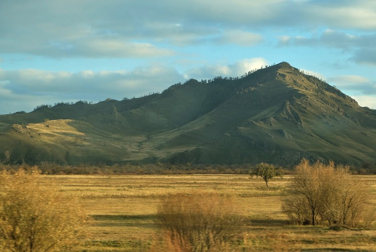 The steppes as viewed from the train