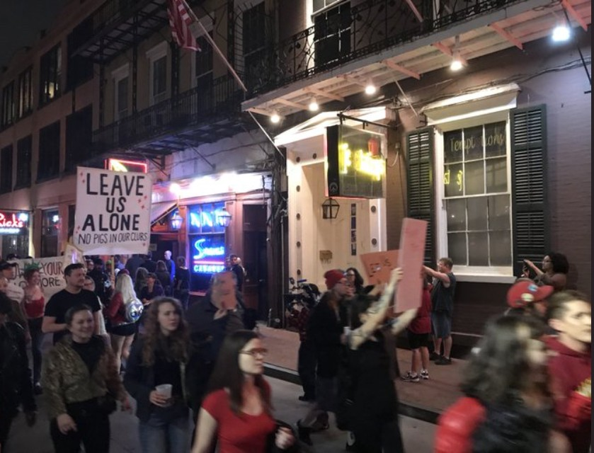 Strippers march in New Orleans to protest club closures