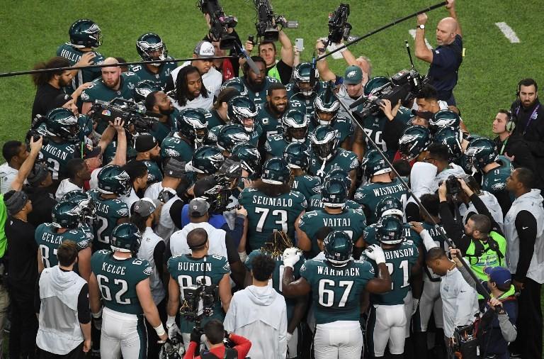 Chaotic scenes in Philadelphia following first Super Bowl win