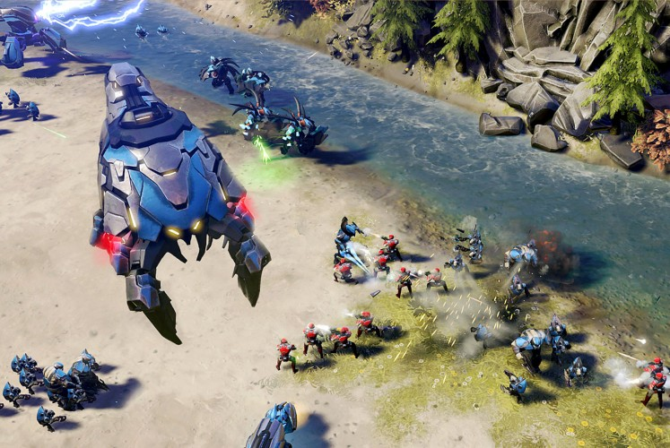 In the battlefield: A scene in the Halo Wars 2 video game. Kevin worked on the trailer of the game.