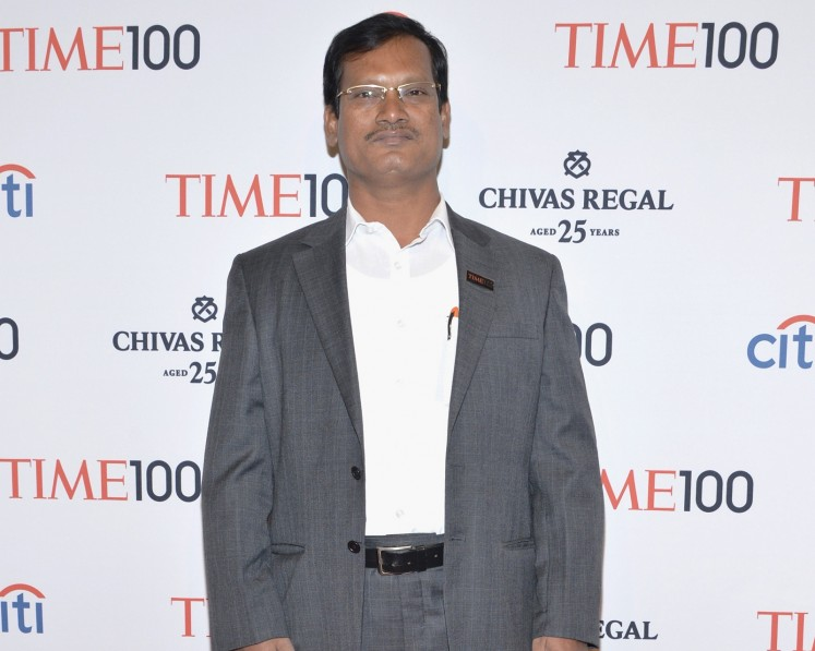 Honoree Arunachalam Muruganantham attends the Time 100 Gala, Time's 100 most influential people in the world, at Jazz at Lincoln Center on April 29, 2014 in New York City.