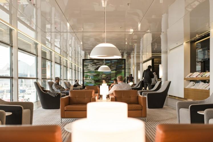 Hong Kong airport lounge