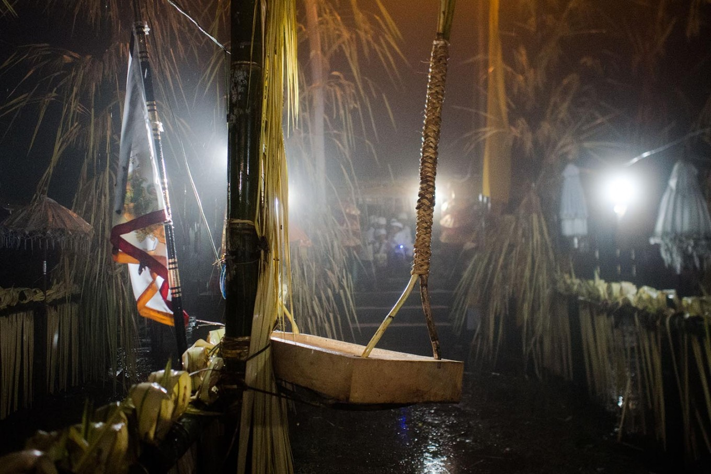 A wooden swing is used in the Usaba Sambah ritual. JP/Anggara Mahendra