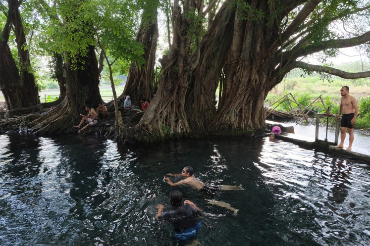 The natural surroundings at Umbul Manten, Klaten, Central Java.