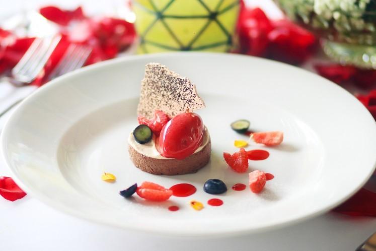 Grand Hyatt's delicious Double Chocolate Cake.
