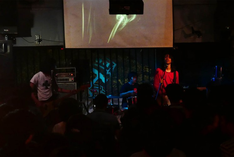 Local band Racun performs at Borneo Beerhouse on Jan. 20.