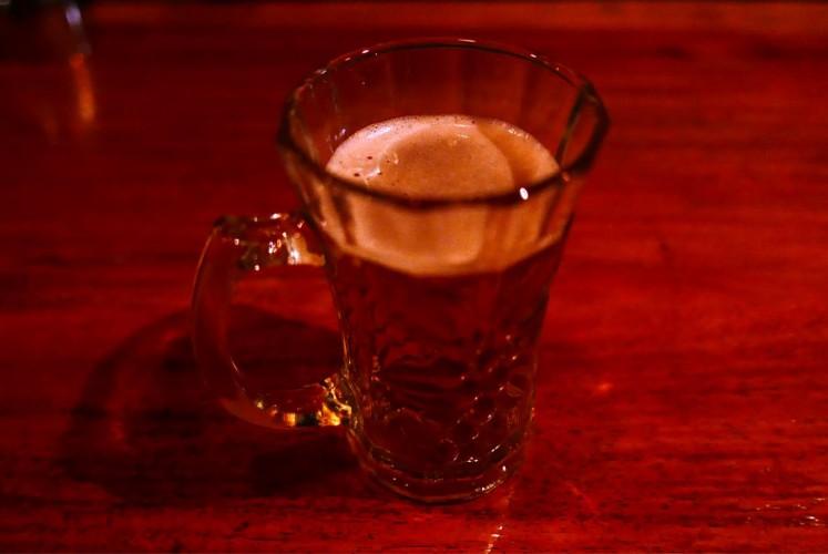 'Bir pletok', a signature drink at Borneo Beerhouse in Kemang, South Jakarta.