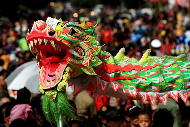 'Barongsai' (Chinese lion dance).