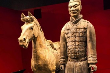 US man stole thumb of Chinese terracotta warrior statue