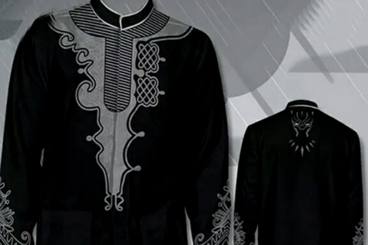 'Black Panther'-inspired 'baju koko'.