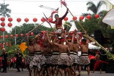 A scene of the Adeging Kutha Sala (the establishment of Surakarta) colossal dance. JP/Maksum Nur Fauzan