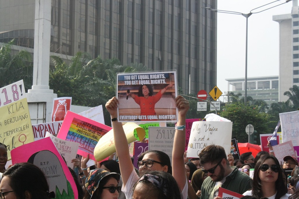 Feminists march for equality, end to gender violence