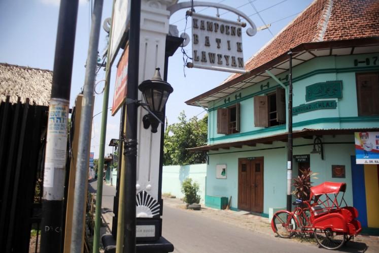 Kampung Batik Laweyan in Surakarta, Central Java.