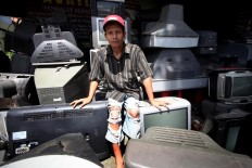 Supriyono works at Zigma workshop as a repairman. JP/Boy T. Harjanto