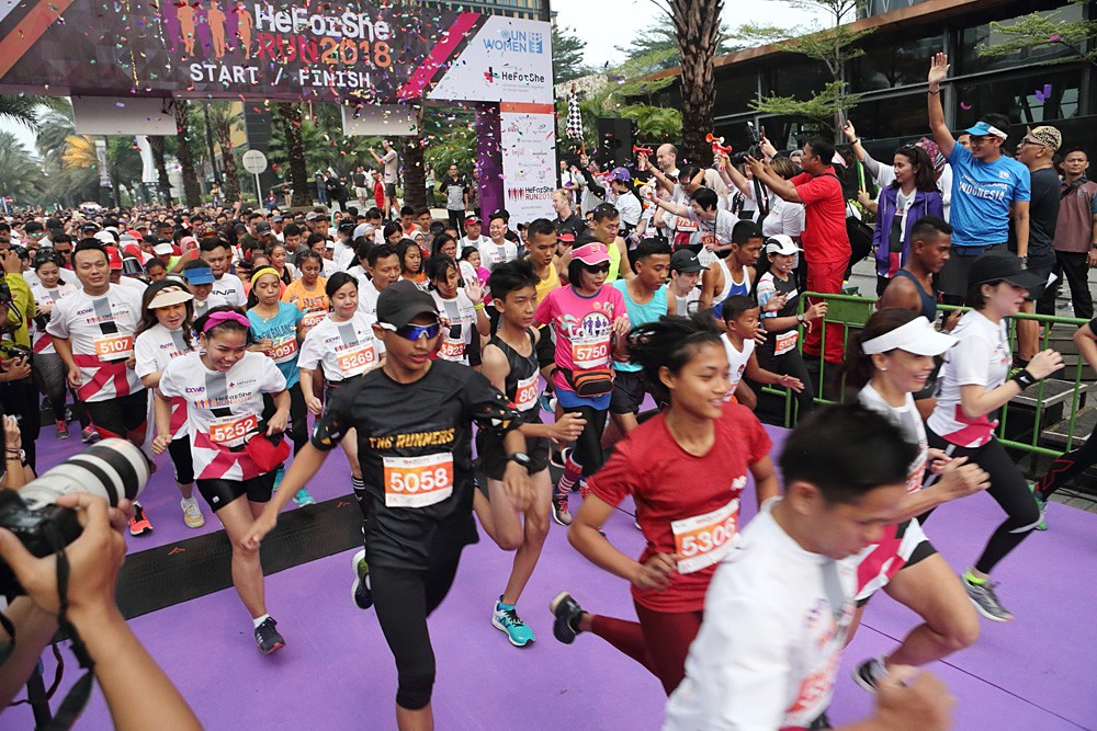 5,000 runners take part in HeForSheRun