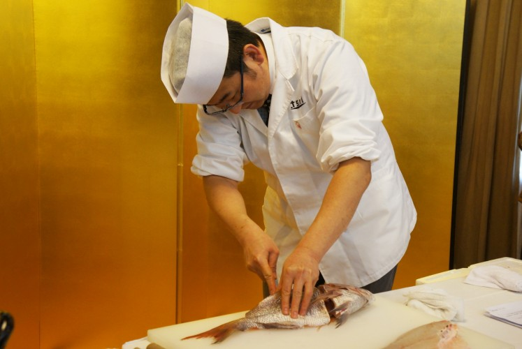 Japanese culinary event 39 celebrates 39 red sea bream food for Best way to freeze fish