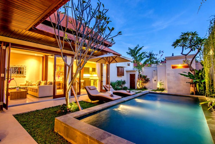 A view of a villa at The Lighthouse Bali rehab center.