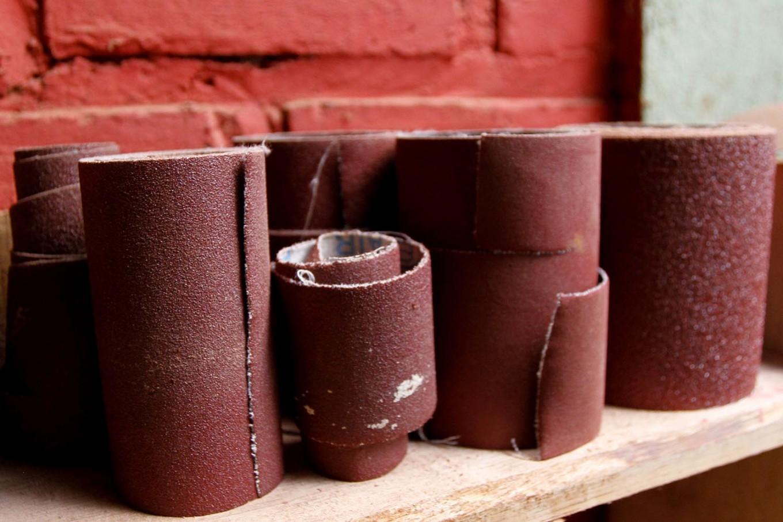 Rolls of sandpaper. JP/Arya Dipa