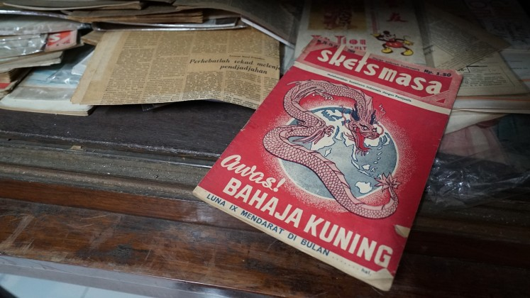 A collection of Museum Pustaka Peranakan Tionghoa (Chinese Indonesian Literature Museum) in South Tangerang, Banten.
