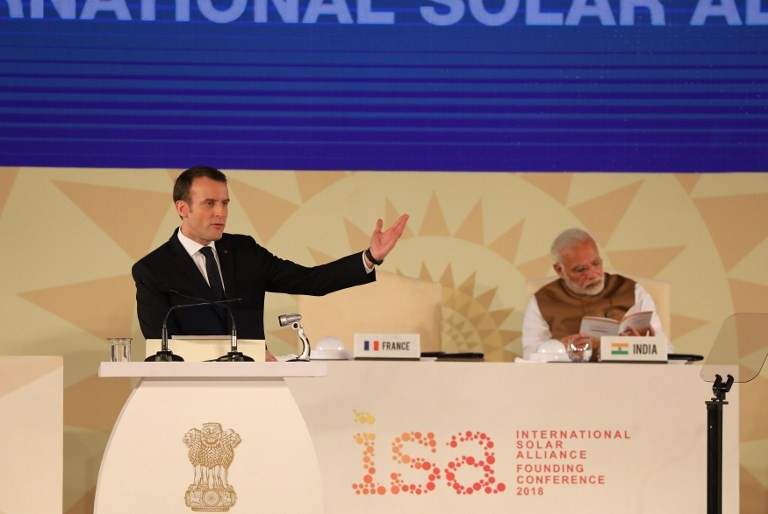Macron pledges 700 million euros for new solar projects