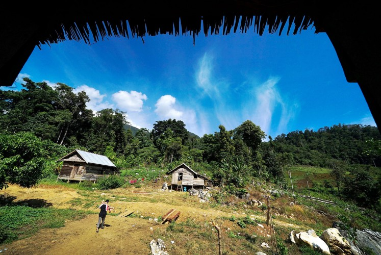 Better than nothing: One of the schools located in the remote forest of North Morowali regency in Central Sulawesi.