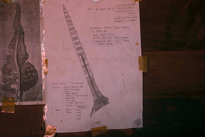 The sketch of a kris pattern as ordered by a customer. JP/Maksum Nur Fauzan
