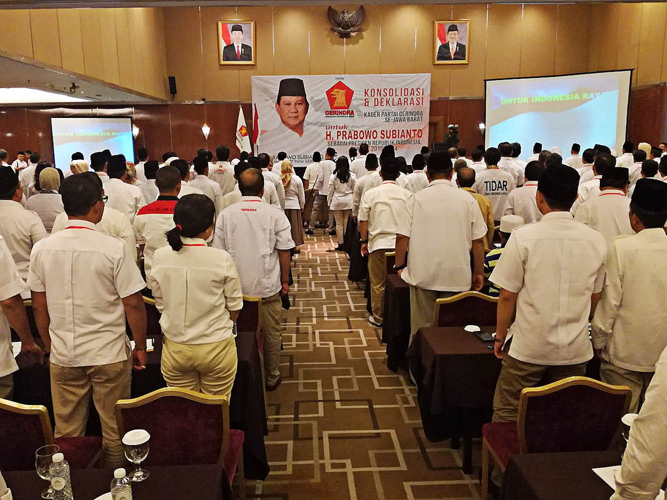 Gerindra officials in West Java declare support for Prabowo