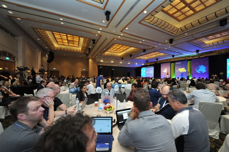 The ballroom where the 2018 Microsoft Education Exchange was held.