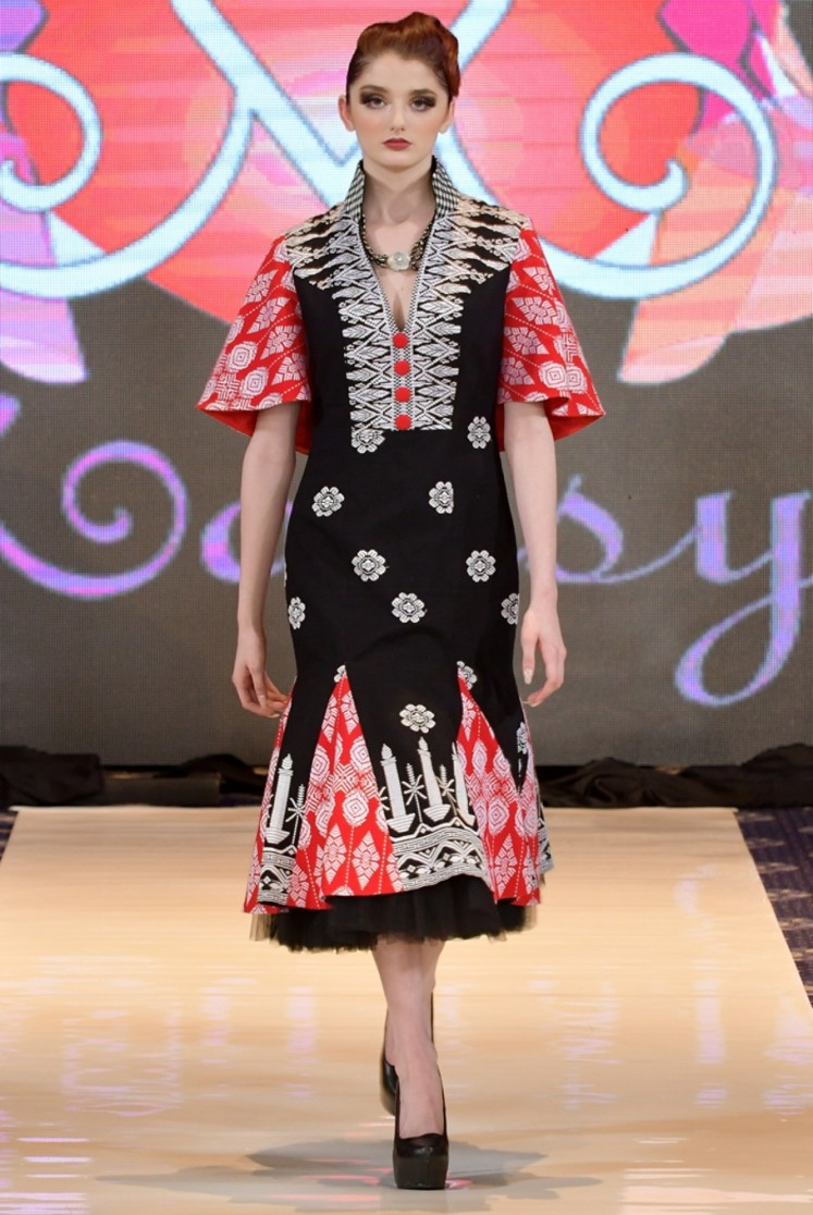 Anna's collection, 'Babe', a portmanteau of Bali and Betawi, was displayed at DC Fashion Week on Feb. 25 in Washington, DC.