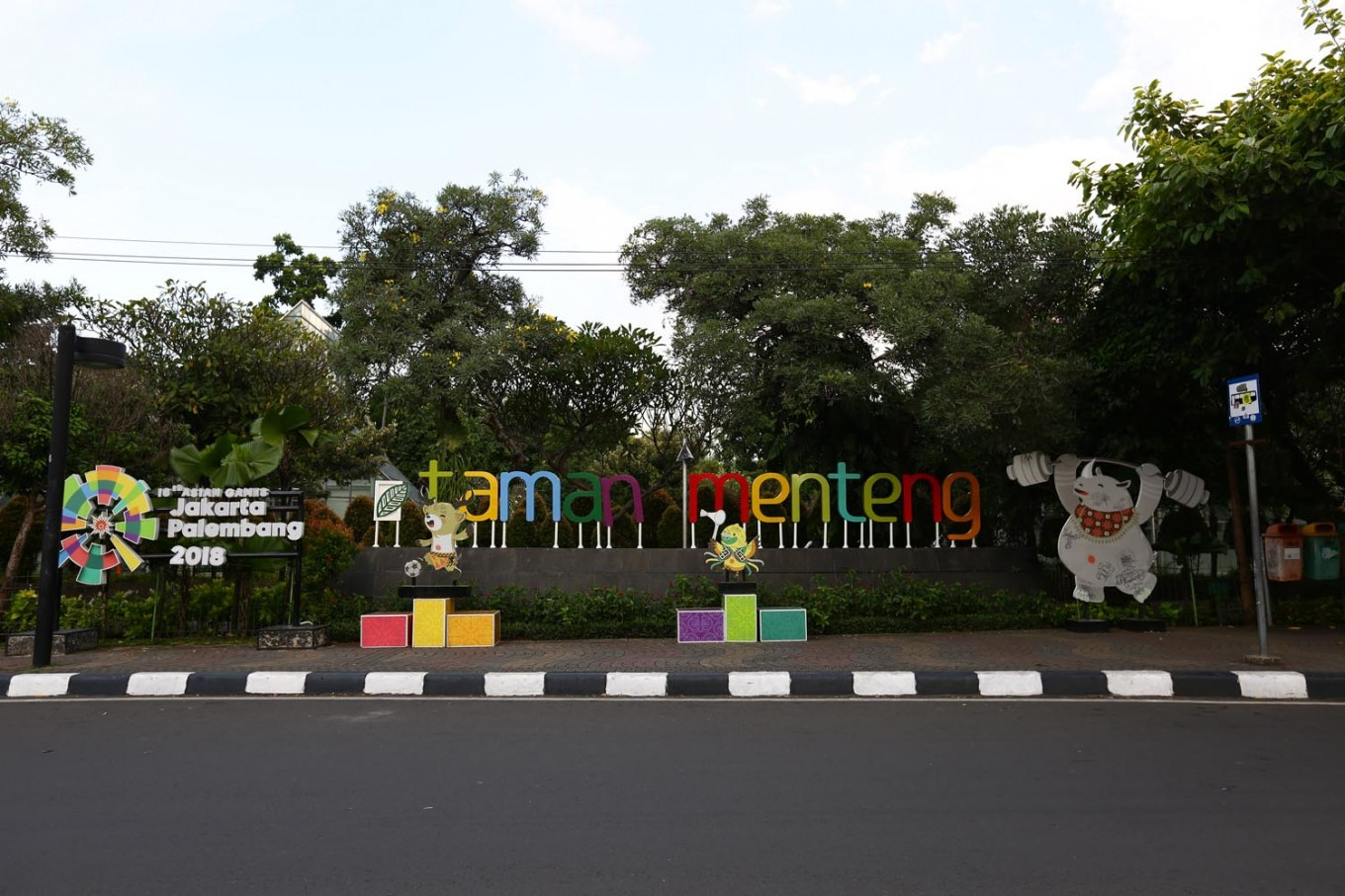 The front area of Taman Menteng in Menteng subdistrict, Central Jakarta.