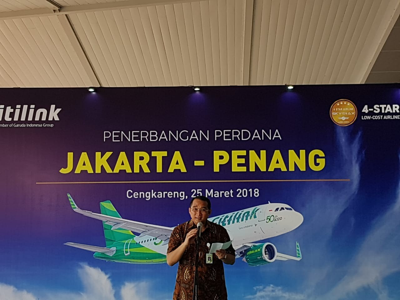 Citilink opens direct route from Jakarta to Penang
