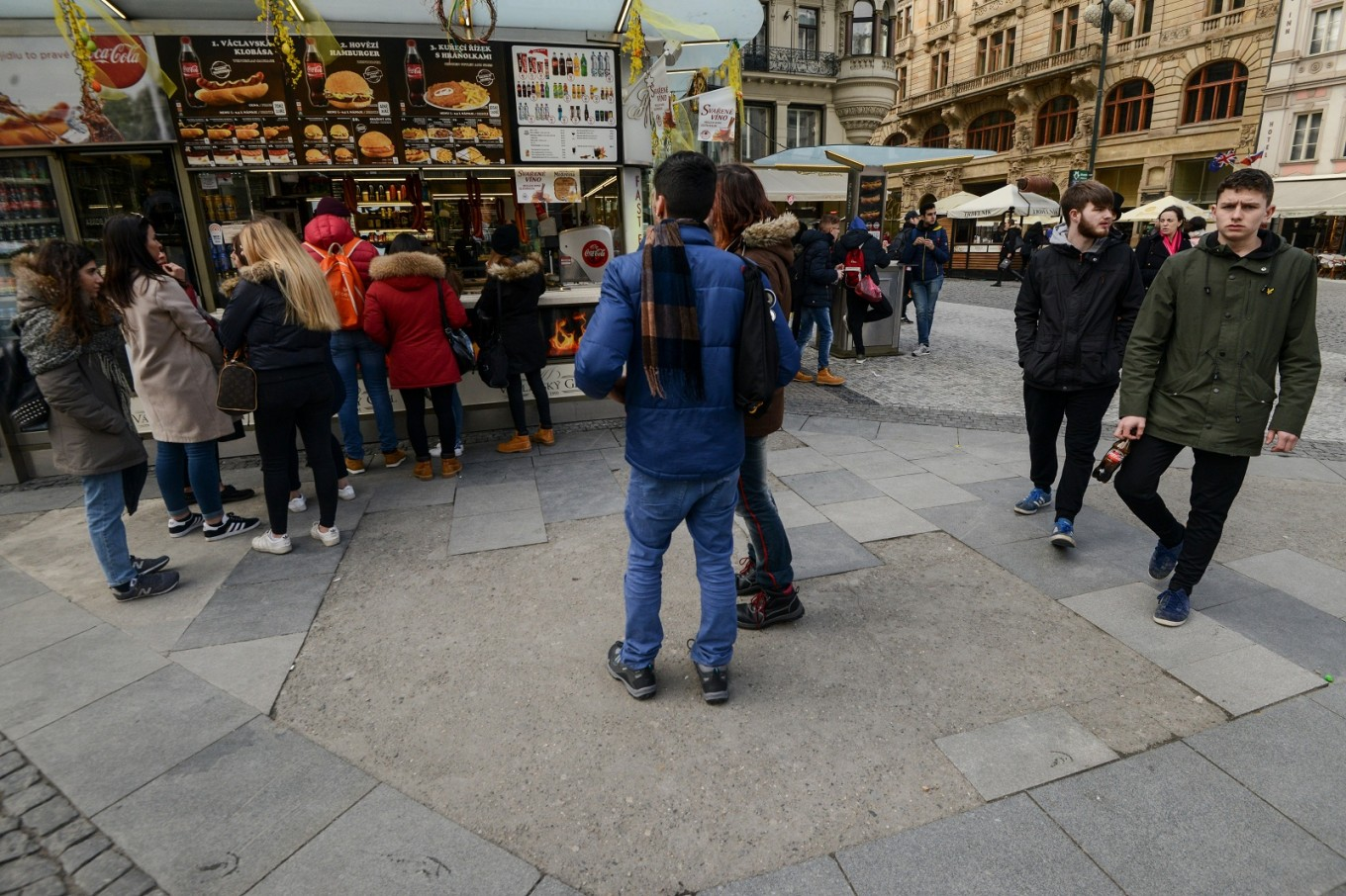 Prague pedestrians tread unaware on Jewish graves