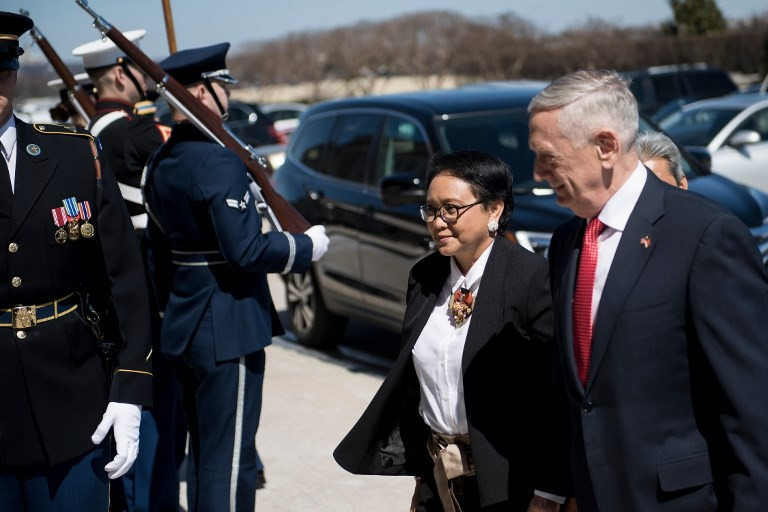 FM Retno holds meeting with Mattis at the Pentagon