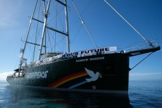 Out and about: Rainbow Warrior reaches Raja Ampat waters in West Papua as part of its journey across Indonesia. JP/Jerry Adiguna