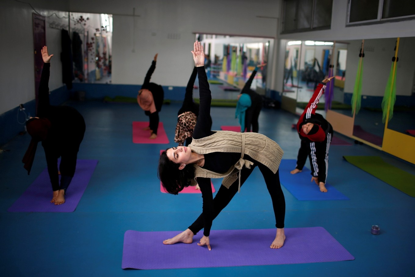 First women's yoga training center opens doors in Gaza