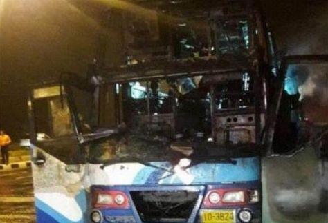 Bus fire kills 20 Myanmar migrants in Thailand