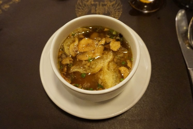 Timlo soup served at Bale Raos restaurant.
