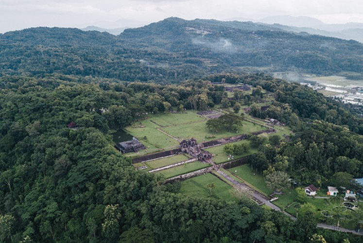 Ratu Boko Palace as seen from above.