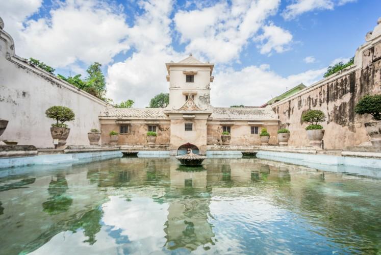 One of the pools at Taman Sari Water Park.