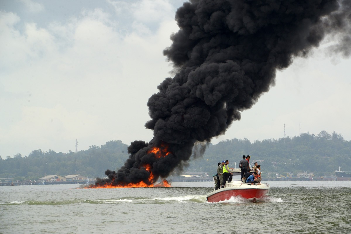 Operations normal after oil spill, fire: Pertamina