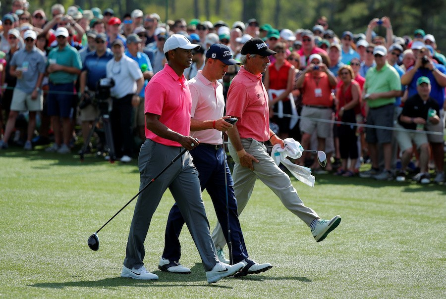 Everyone happy to see Woods back at Masters, for now