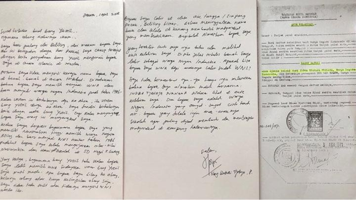 Ahok's brother sends open letter to Yusril, explaining father's citizenship