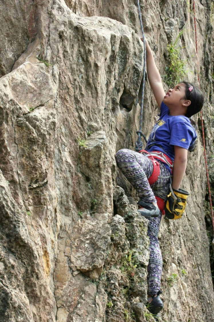 This is a glimpse of Aisha Ranianda, or Icha while doing what she loves the most. Wall climbing has been a big part of her life since she was just a kid.