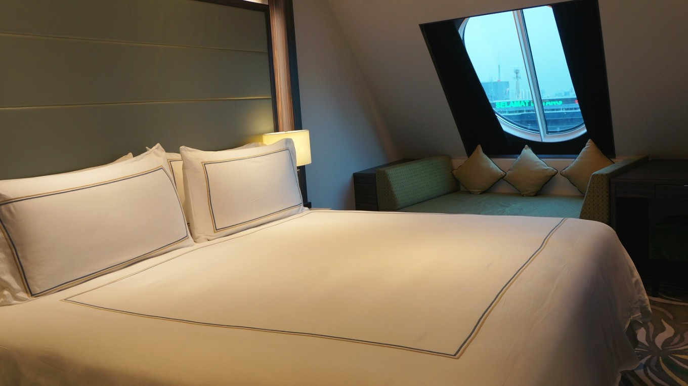 Onboard accommodation at Dream Cruise.