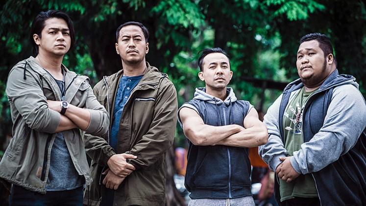 Action ready: The cast of Partikelir includes (from left) Deva Mahenra, Pandji Pragiwaksono, Villand Volt and David Saragih.