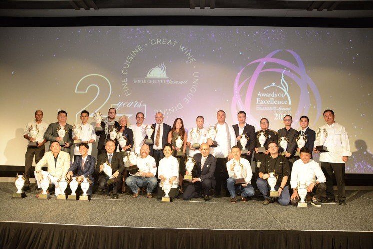 Winners of the World Gourmet Summit 2018's Awards of Excellence take the stage.