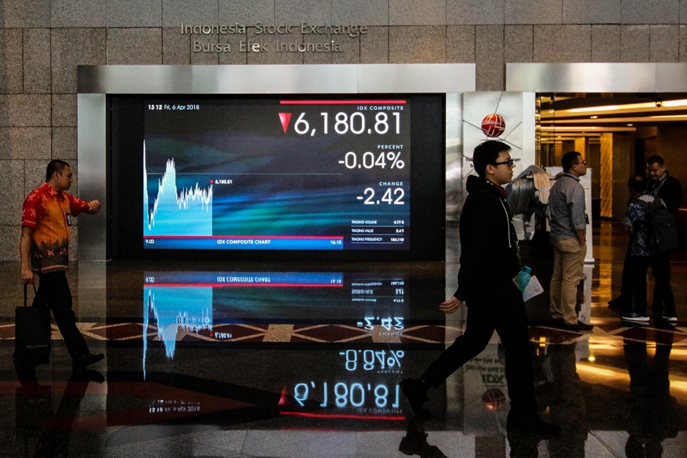 IDX moves to calm stock market as Indonesia reports first coronavirus cases