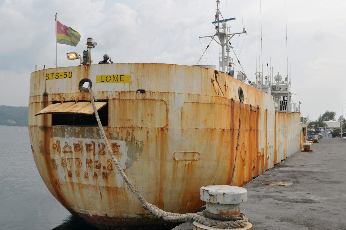 Indonesian Navy captures Interpol's most-wanted fishing vessel