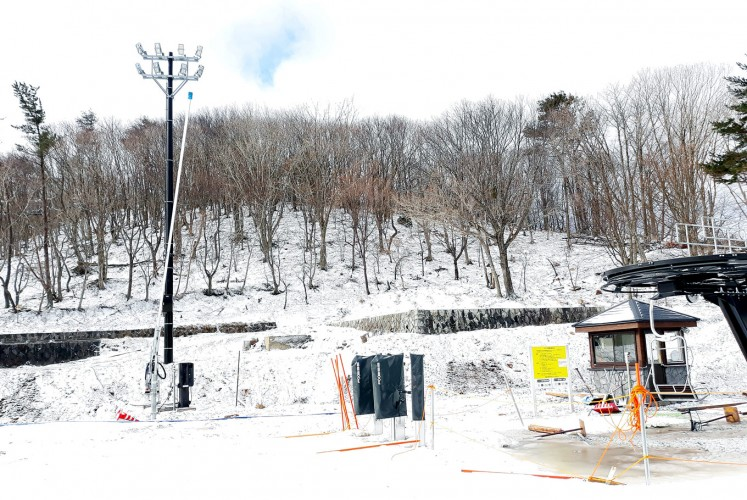 White slopes: Opened in late December last year, the Mineyama Kogen Resort White Peak in Kamikawa village, Hyogo prefecture, is the newest resort in Japan. The ski resort is perfect for beginners thanks to the hill's gentle slopes.